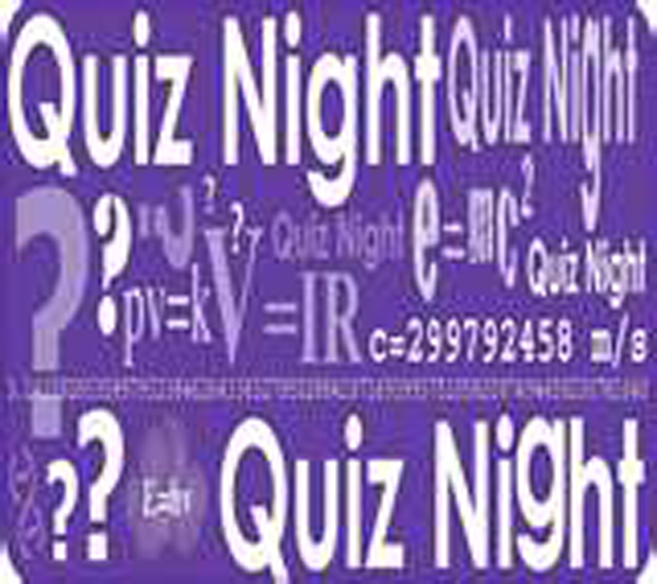 Quiz Night Dates 2018